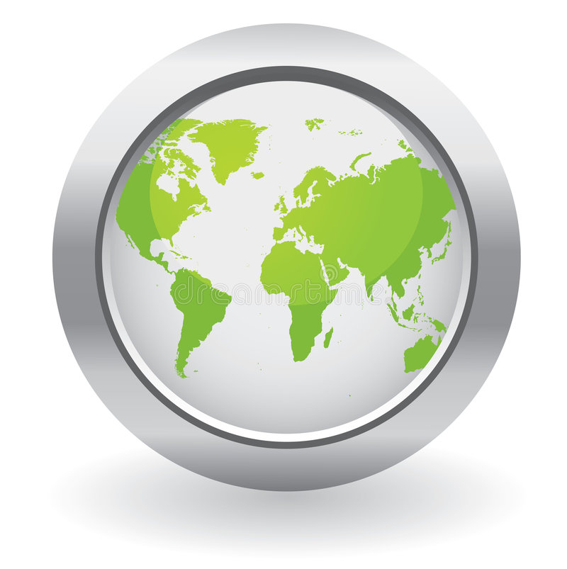 Tasti del globo di ecologia royalty illustrazione gratis