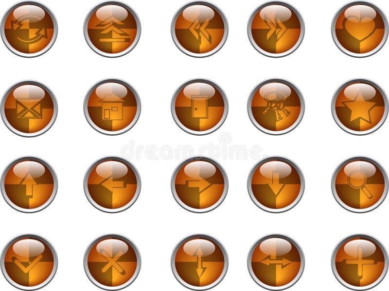 Tasti del Internet illustrazione di stock