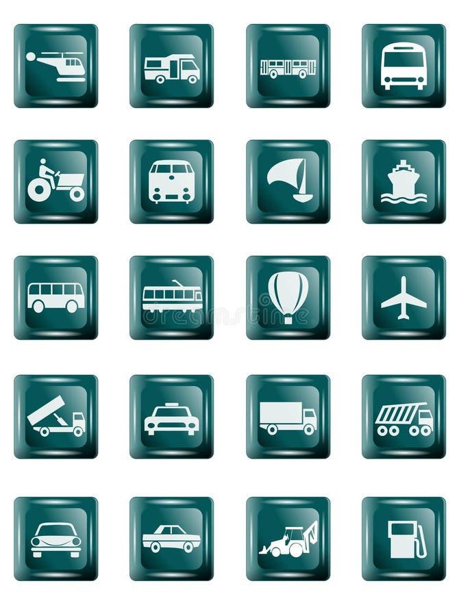 Tasti del trasporto illustrazione di stock