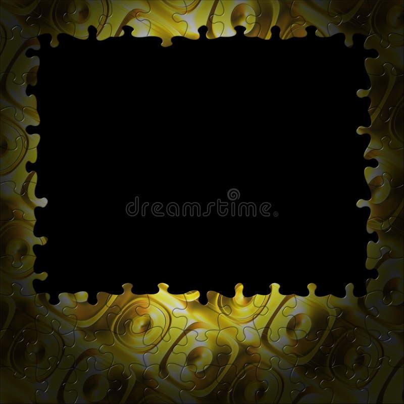Tasti dell'oro del blocco per grafici di puzzle della priorità bassa illustrazione vettoriale
