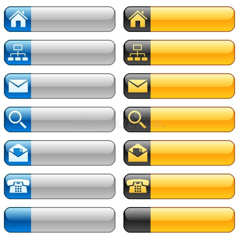 Tasti della bandiera con le icone di Web illustrazione vettoriale