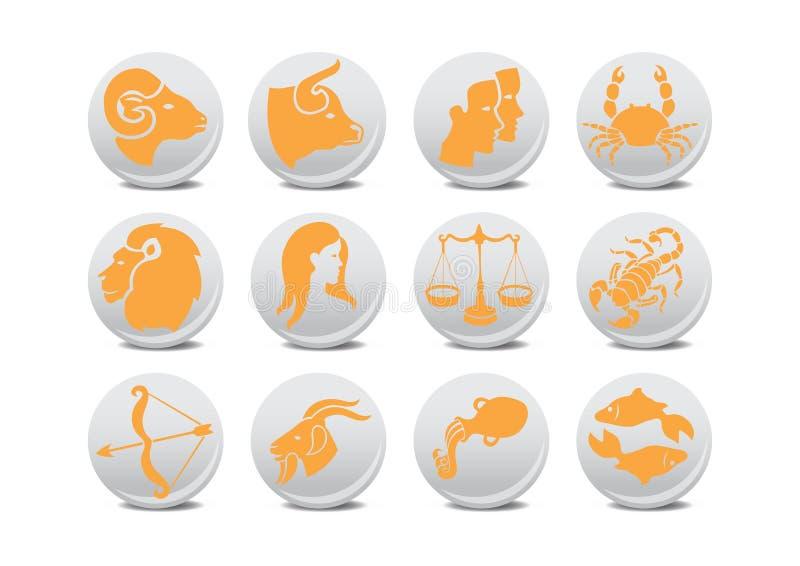 Tasti dello zodiaco illustrazione vettoriale