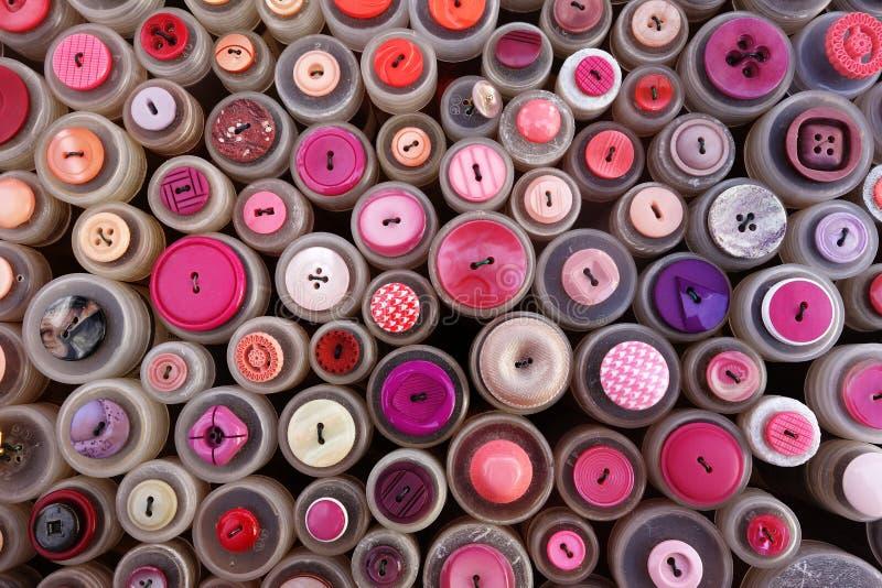 Tasti di cucito fotografia stock libera da diritti