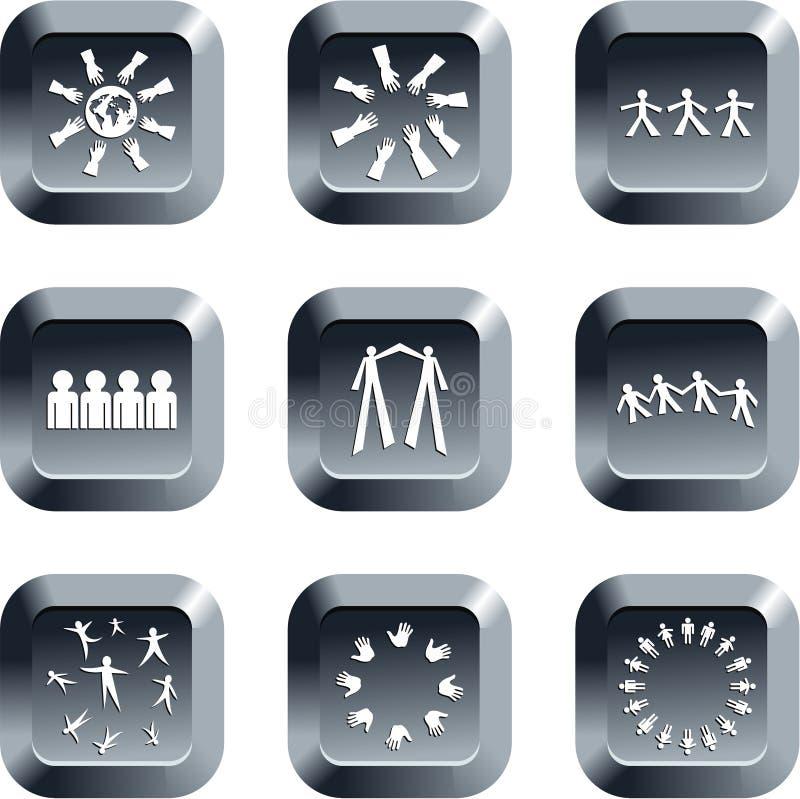 Download Tasti di lavoro di squadra illustrazione di stock. Illustrazione di comunicazione - 3885909