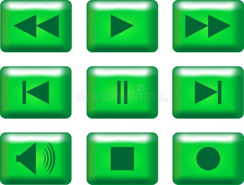 tasti di multimedia illustrazione vettoriale