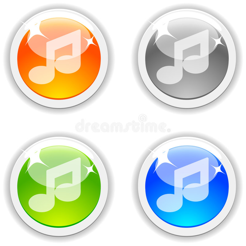Tasti di musica. illustrazione vettoriale
