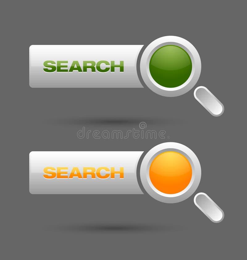 Tasti di ricerca illustrazione vettoriale
