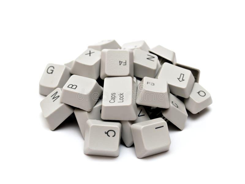 Tasti di tastiera del calcolatore fotografie stock libere da diritti