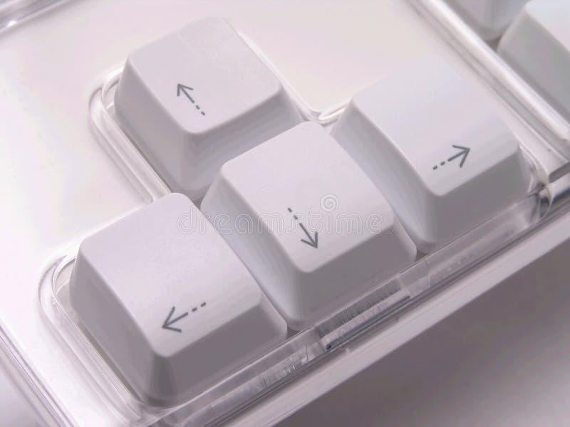 Tasti di tastiera della freccia fotografie stock