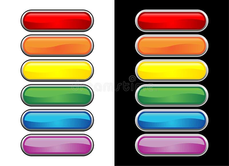 Tasti di vetro Vectorial illustrazione di stock