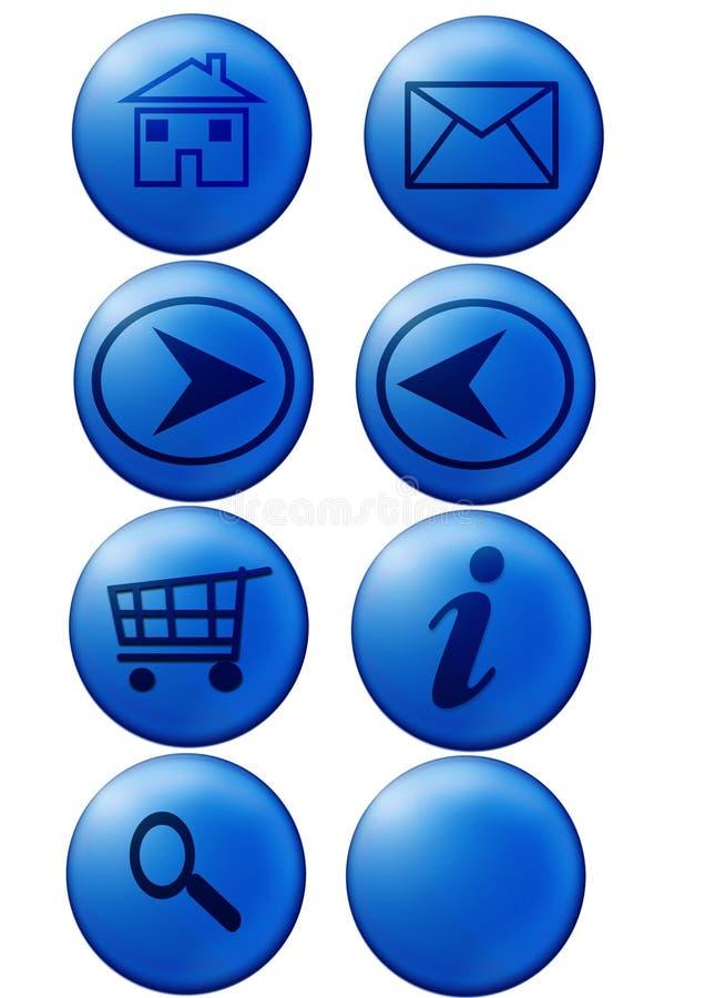 Tasti di Web illustrazione vettoriale
