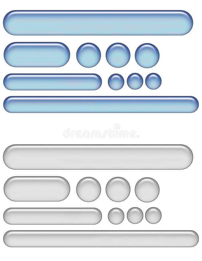 Tasti di Web del gel illustrazione vettoriale