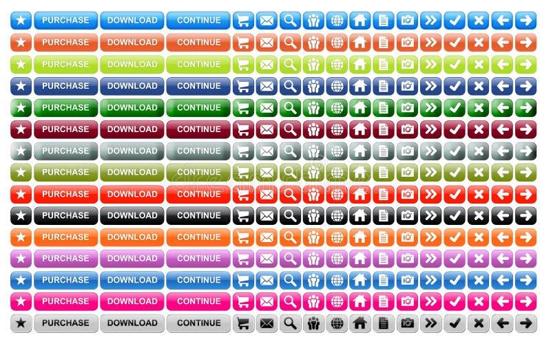 Tasti di Web site illustrazione vettoriale