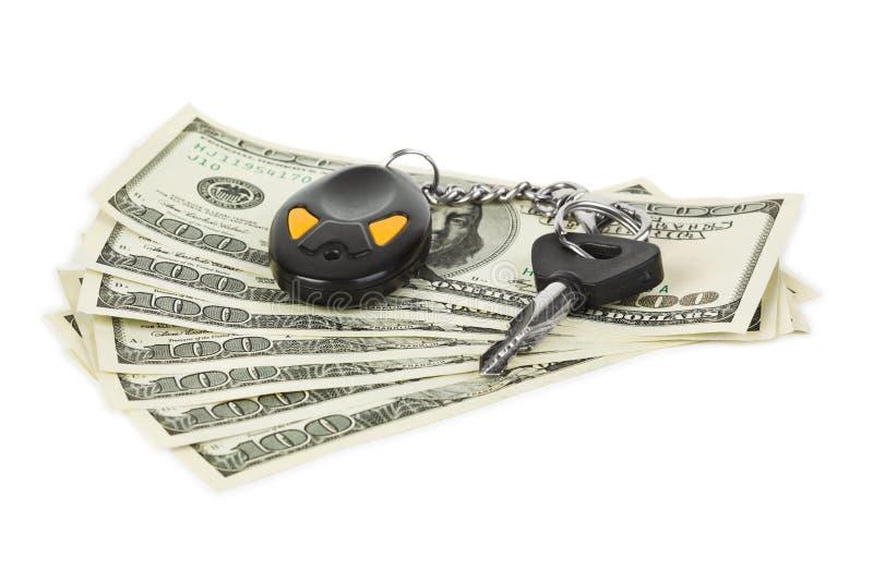 Tasti e soldi dell'automobile immagine stock libera da diritti