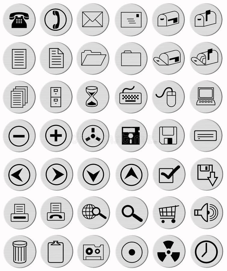 Tasti grigio-chiaro dell'ufficio illustrazione di stock