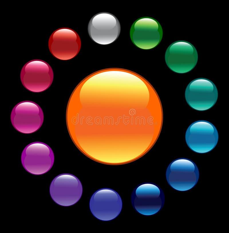 Tasti lucidi di colore. illustrazione di stock