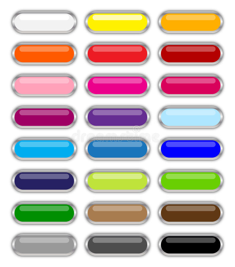 Tasti lucidi di Web illustrazione di stock