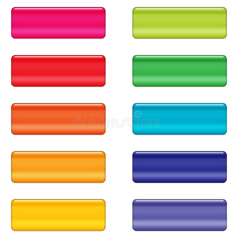 Tasti lucidi di Web nei colori luminosi