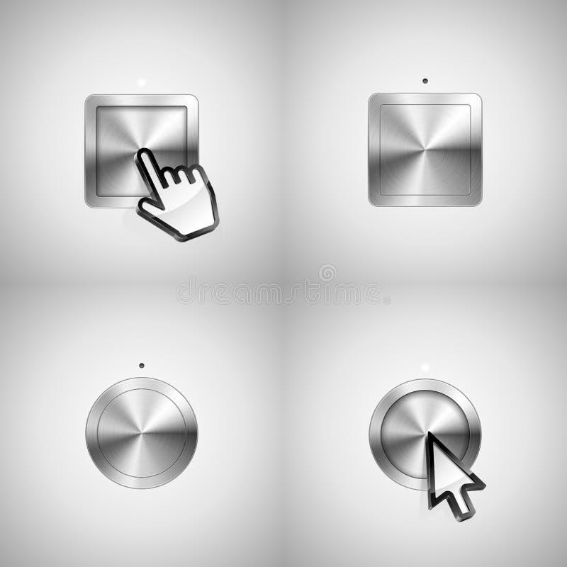 Tasti metallici illustrazione vettoriale