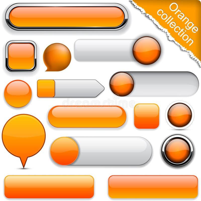 Tasti moderni alto-dettagliati arancioni. illustrazione vettoriale