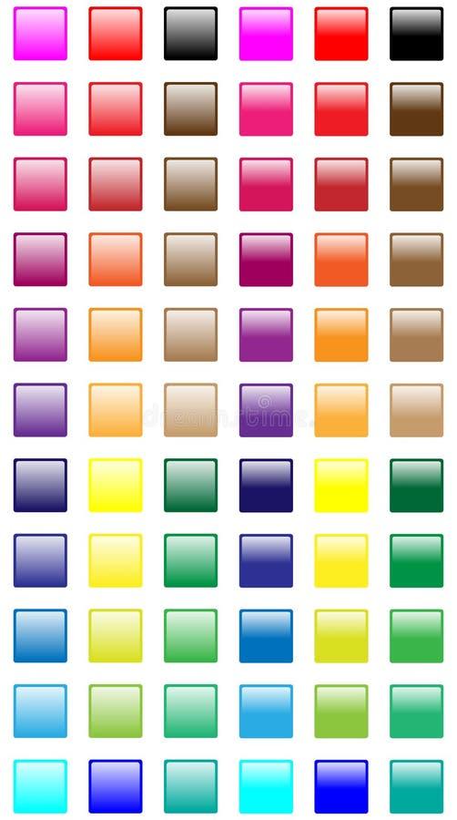 Tasti quadrati di Web illustrazione vettoriale