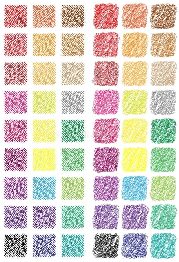 Tasti quadrati tritati di Web illustrazione vettoriale