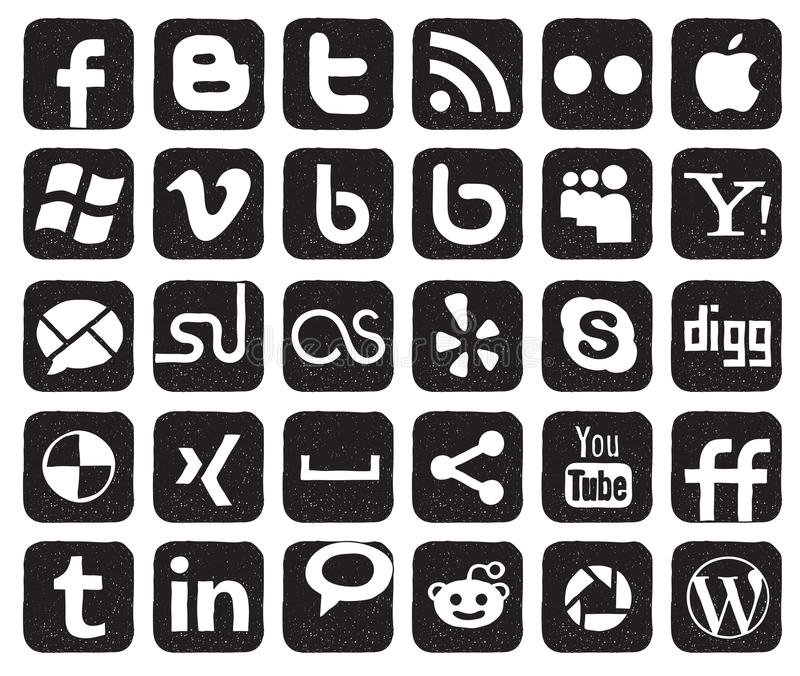 Tasti sociali di media illustrazione vettoriale