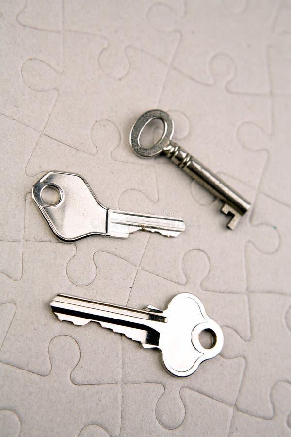 Tasti sul puzzle immagine stock libera da diritti