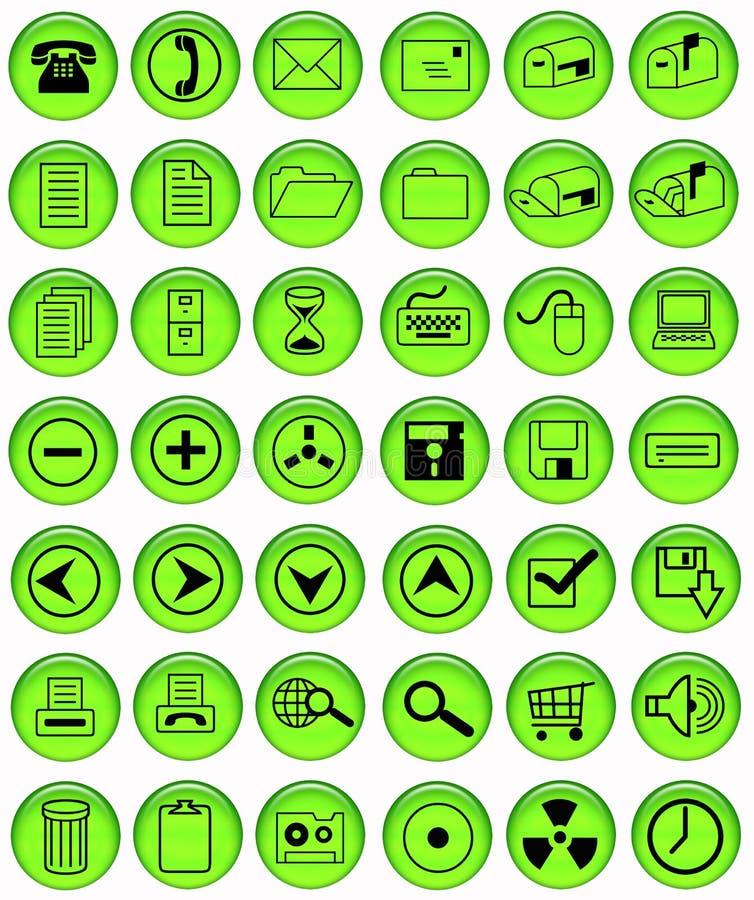 Tasti verde chiaro dell'ufficio illustrazione di stock