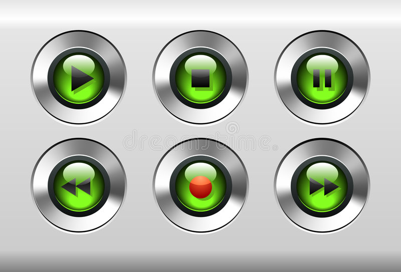 Tasti verdi illustrazione di stock
