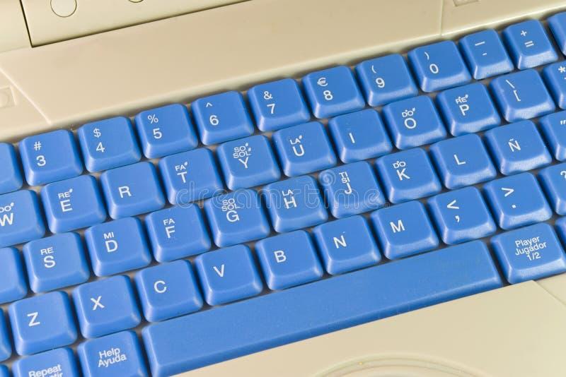 Download Tastiera blu immagine stock. Immagine di wireless, commercio - 3131587