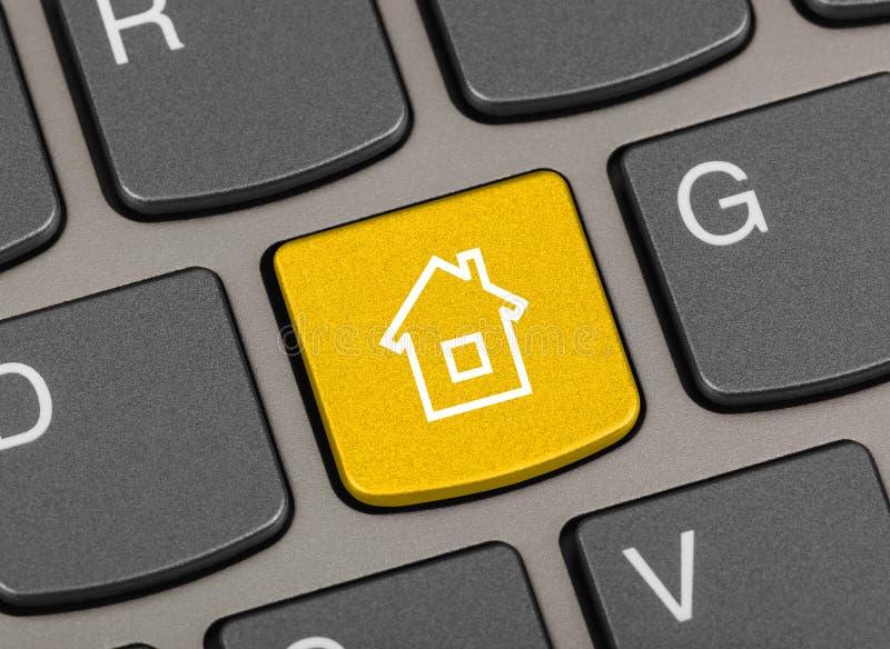 Tastiera del computer con tasto Home fotografie stock