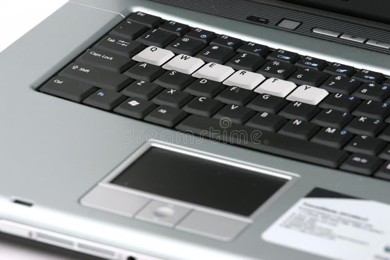 Tastiera del computer portatile fotografia stock libera da diritti