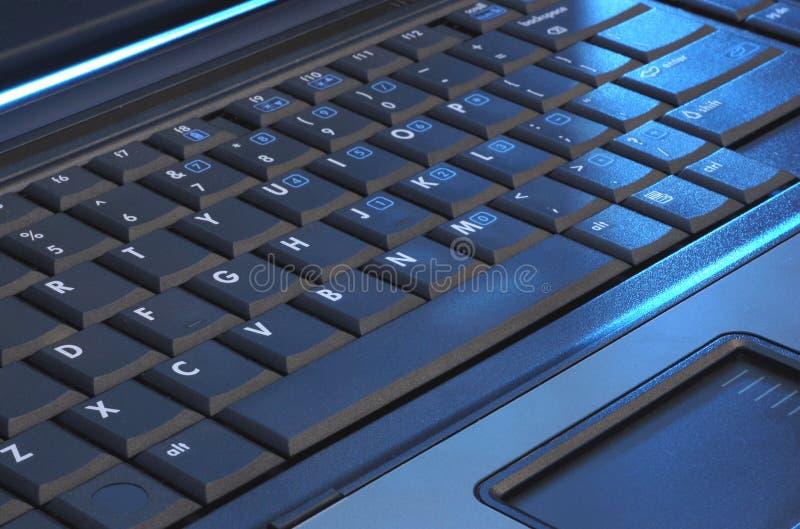 Tastiera del computer portatile fotografie stock