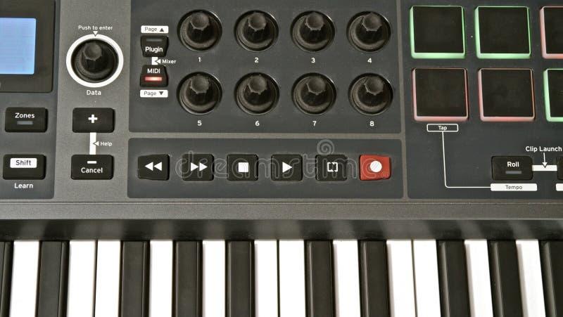 Tastiera del Midi immagini stock