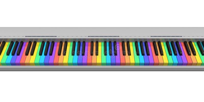 Tastiera del sintetizzatore del Rainbow illustrazione di stock