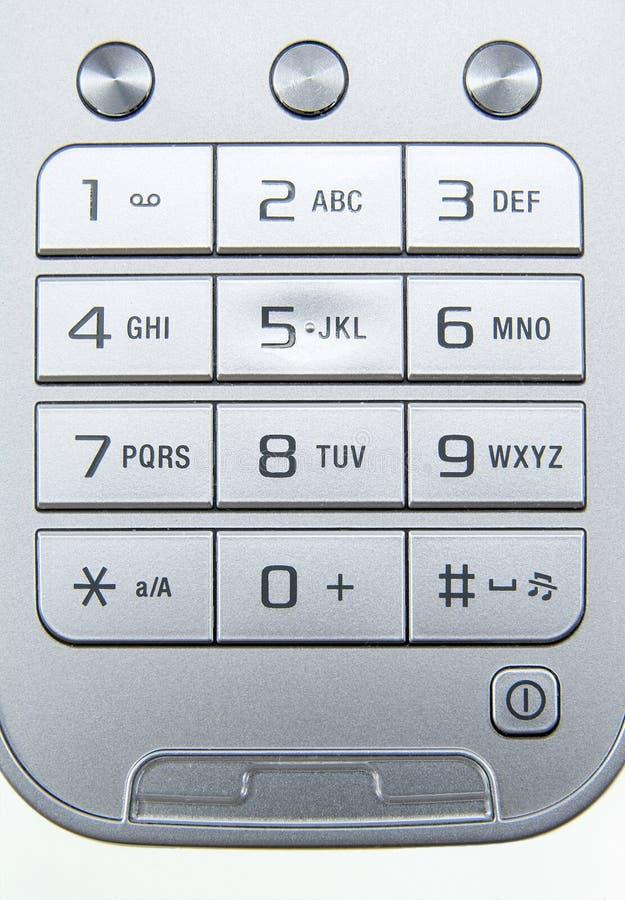 Tastiera del telefono mobile fotografia stock libera da diritti