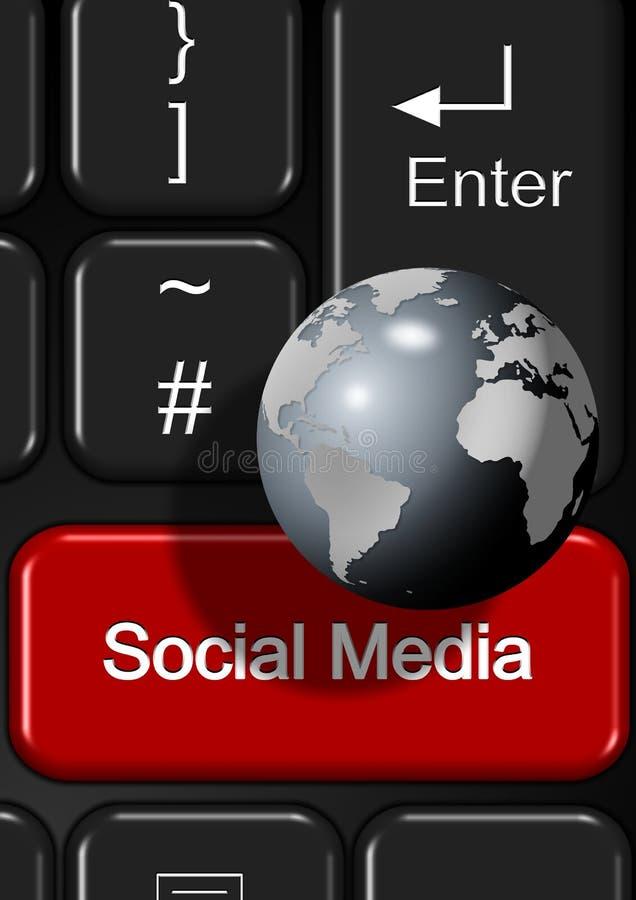 Download Tastiera Della Rete Sociale Illustrazione di Stock - Illustrazione di discussione, figura: 30831301