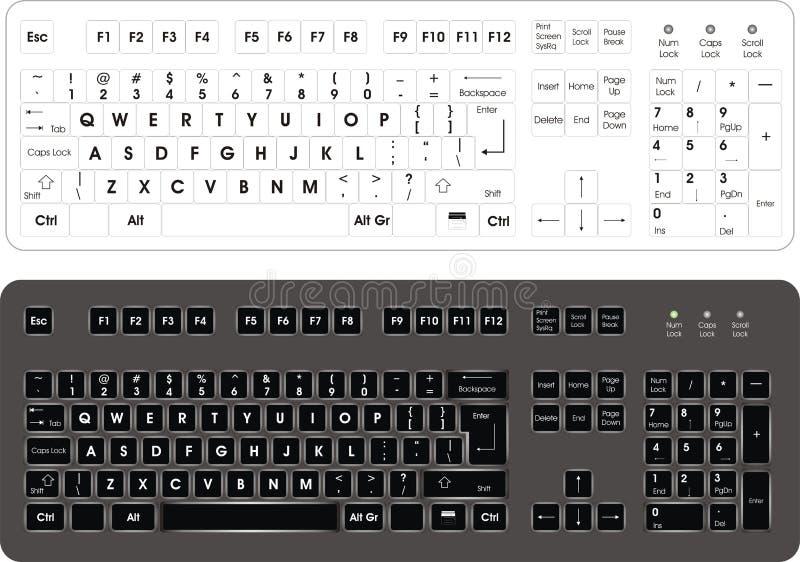 Tastiera di calcolatore illustrazione di stock