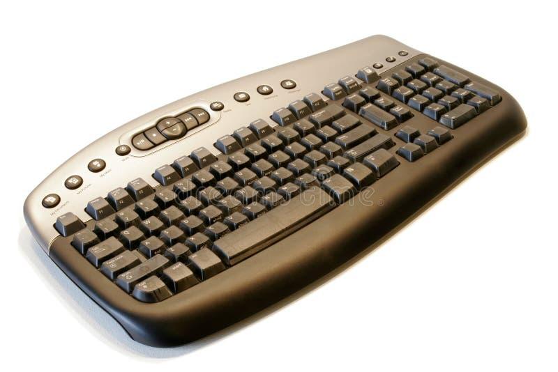 Tastiera di calcolatore senza fili ergonomica immagine stock libera da diritti