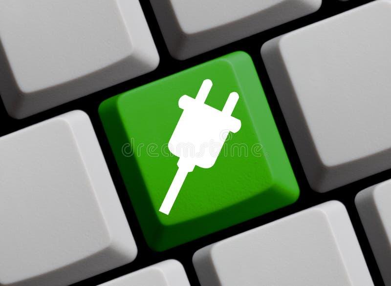 Tastiera di computer: Spina immagine stock libera da diritti