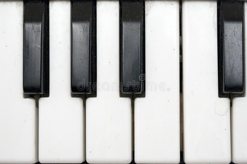 Tastiera di Grundgy Plasic (vista vicina) immagine stock libera da diritti