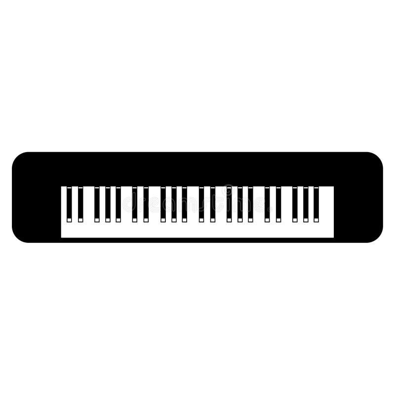 Tastiera di piano, disegnata a mano, vettore, ENV, logo, icona, illustrazione della siluetta dai crafteroks per gli usi different illustrazione di stock