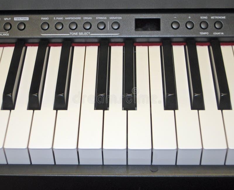 Tastiera di piano elettronica immagine stock libera da diritti