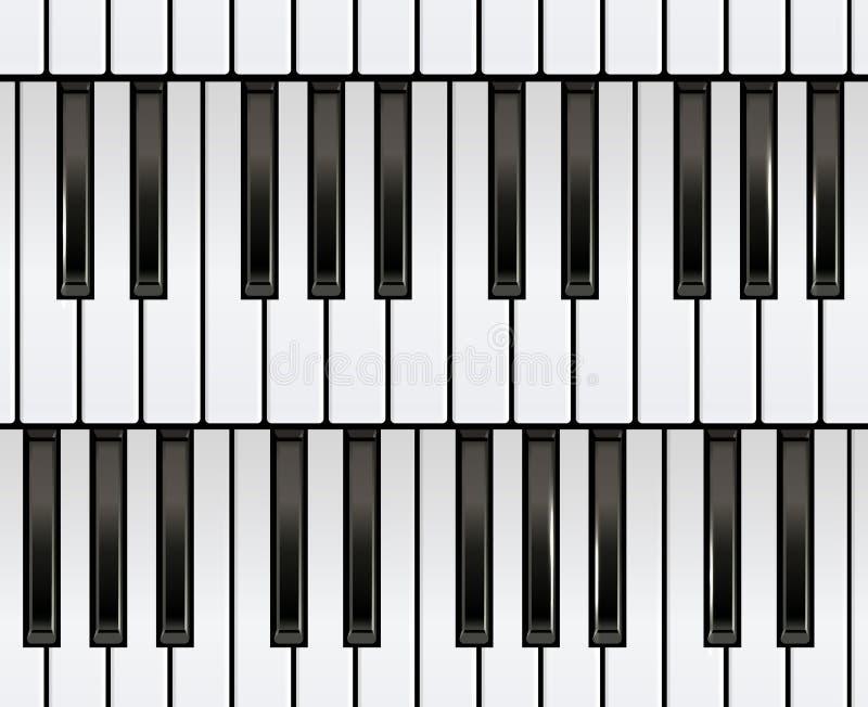 Tastiera di piano senza cuciture immagine stock libera da diritti