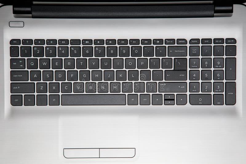 Tastiera di un computer portatile fotografia stock