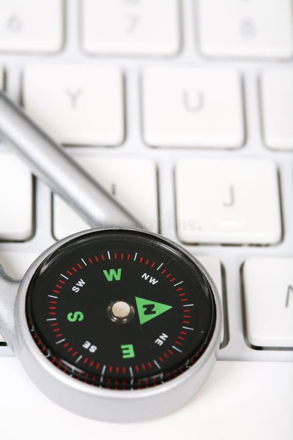 Tastiera e bussola di computer