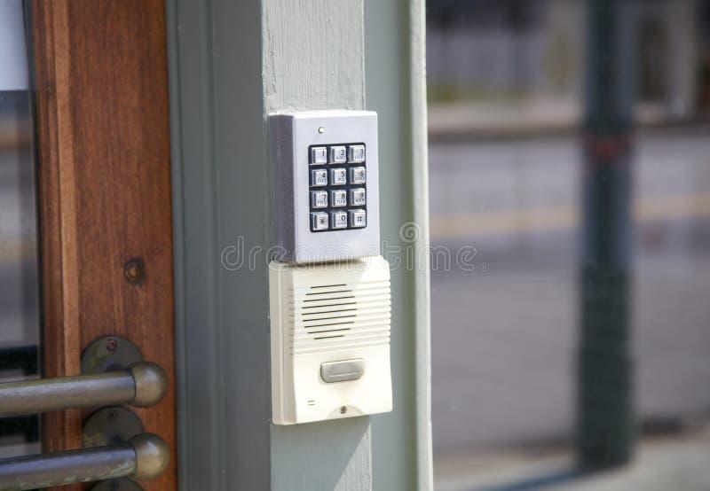 Tastiera e cabina telefonica di sicurezza dell'allarme fotografia stock libera da diritti