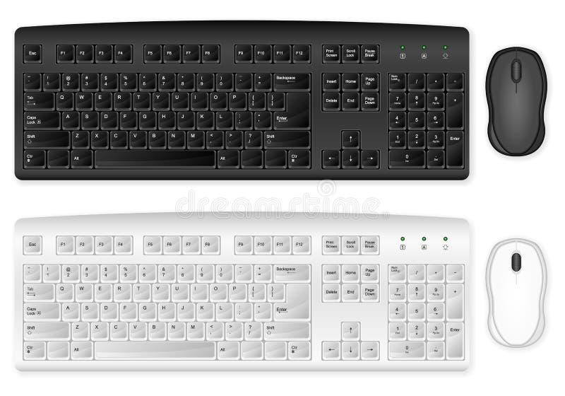 Tastiera e mouse illustrazione di stock