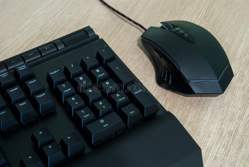 Tastiera e mouse di calcolatore immagini stock libere da diritti